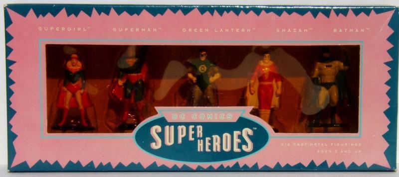 DC Comics Super Heroes 5 5 5 Die Cast Metal Figurines Superman Shazam Batman GL bdc6a4