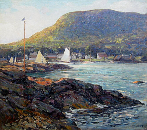 Maine  by Henry Wilson Irvine  Giclee Canvas Print Repro The Harbor at Camden