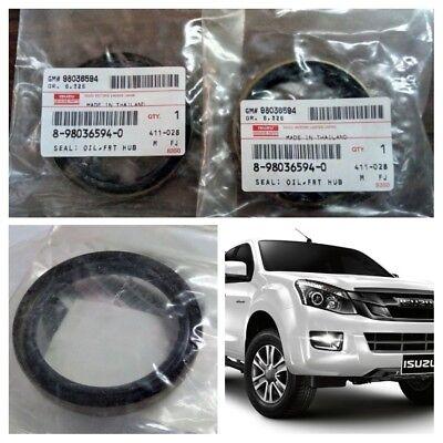 2 pieces isuzu dmax front wheel oil seal hub set d max hi lander rodeo 4wd ebay