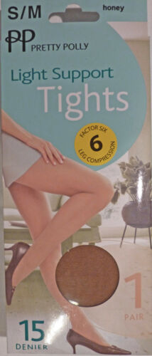 Pretty Polly Small to Medium Size Light Support 15 Denier Tights various shades