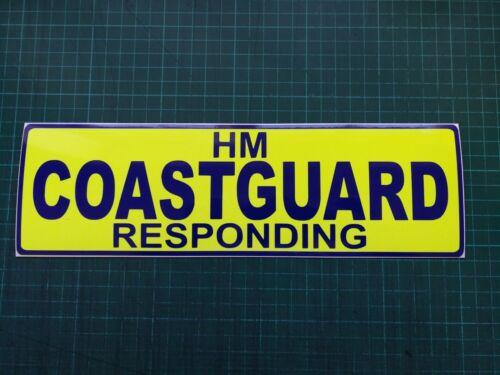 HM COASTGUARD responding Magnet Crew Emergency Car on call LIFEBOAT 300mm