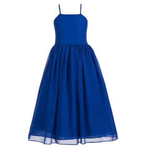 NEW Criss Cross Chiffon Flower Girl Dress Wedding Pageant Dresses Summer Dresses