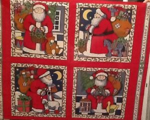 image is loading susan winget vintage christmas fabric pillow project panel - Vintage Christmas Fabric