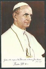 Estampa antigua del Papa Pablo VI andachtsbild santino holy card santini