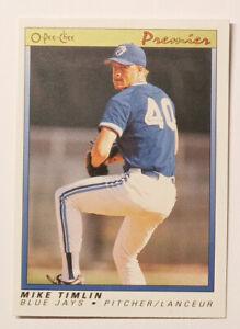 Mike-Timlin-1991-O-Pee-Chee-Premier-OPC-Rookie-122-Toronto-Blue-Jays