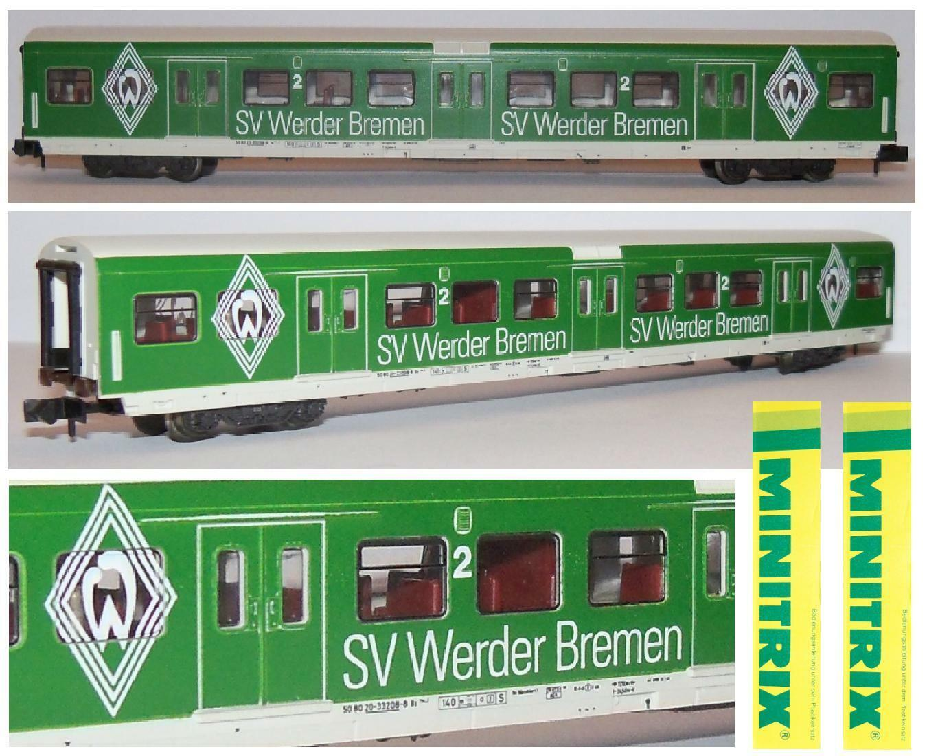 MINITRIX 13772 CARROZZA PULLMAN CAR 2a Limited Edition SV WERDER BREUomo SCALA-N