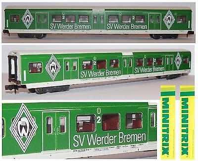 Attento Minitrix 13772 Carrozza Pullman Car 2a Limited Edition Sv Werder Bremen Scala-n