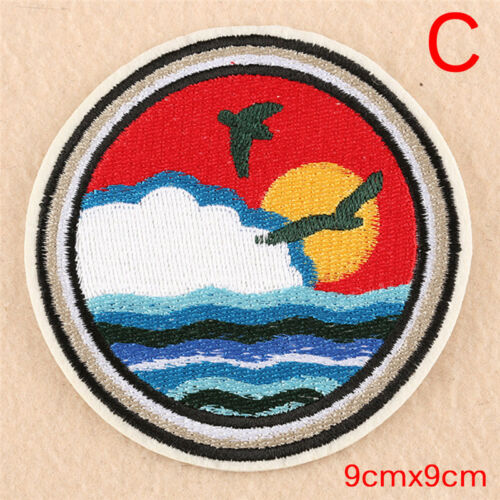 Embroidery Sew Iron On Patch Badge Transfer Fabric Bag Hat Jeans Applique#