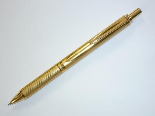 PROMO Pentel EnerGel METALLIC Roller pen BL407 RIGHT n LEFT handed gift black G
