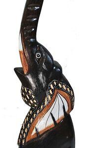 Holzelefant aus holz 60cm im afrika style elefant dekoration ebay - Dekoration afrika style ...