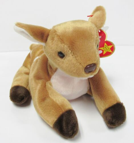 w//Mint Tags Brand New MINT PRISTINE CLEAN Ty Beanie Baby Whisper the Deer FAWN