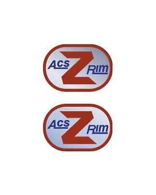 ACS Z RIM DECALS Stickers Old school BMX Restoration decals