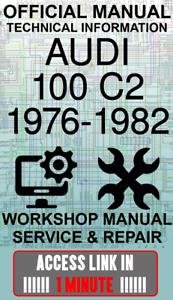 #ACCESS officina ufficiale di collegamento Manuale servizio e riparazione AUDI 100 C2 1976-1982