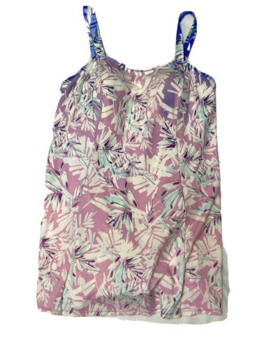 Swimsuits For All Pink Floral Swimdress Women's Pl