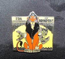 Disney The Lion King Trading Pin Scar 3 Hyenas I'm Surrounded By Idiots 78579