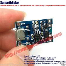 TP4056 Micro USB 5V 1A 18650 Lithium Ion Lipo Battery Charger Module Protection