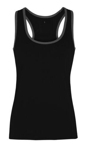 Tri Dri TR023 Womens Panelled TriDri Fitness Vest Jogging Yoga Top Active Wear
