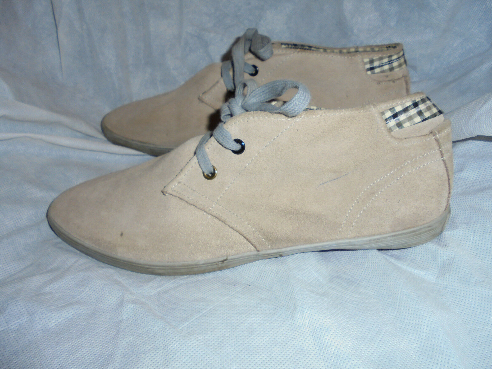 LEE COOPER  MEN'S BEIGE SUEDE LEATHER LACE UP Trainers SIZE UK 11 EU 45 US 12