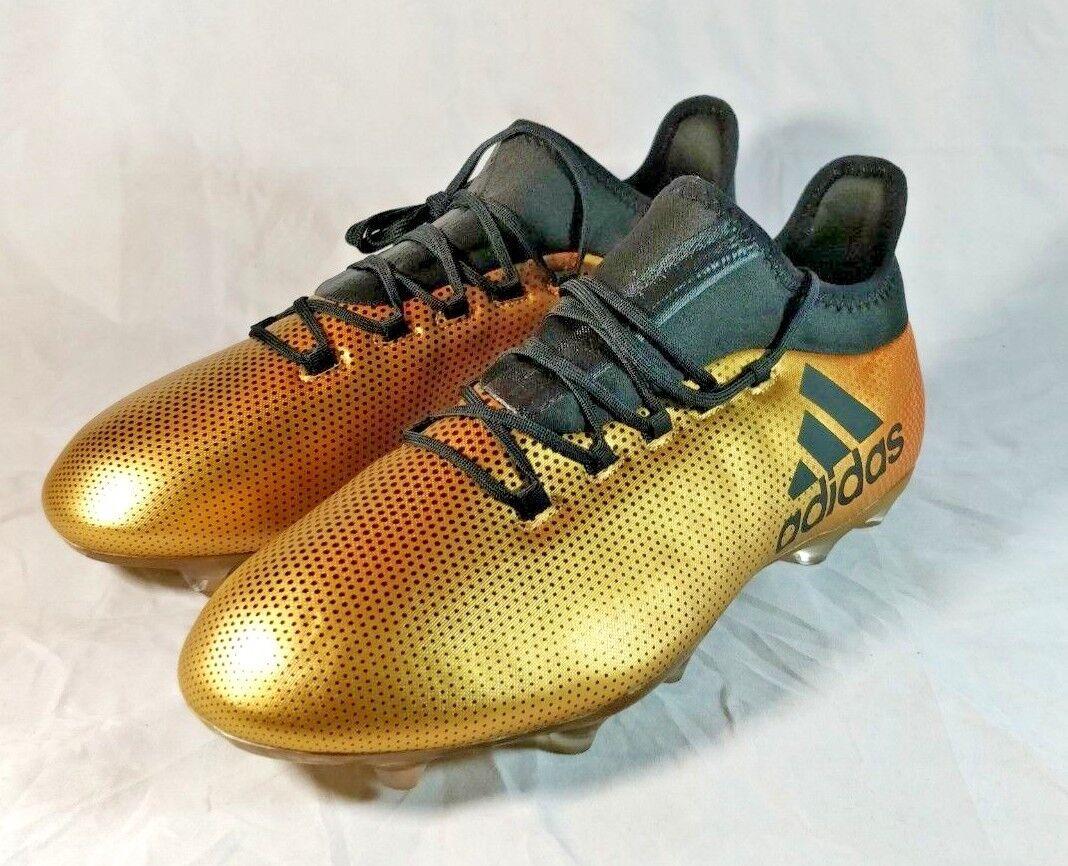 adidas x fg scarpini da calcio mens 10 oro nucleo metallico nero