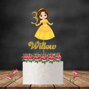 Disney  inspired princess personalised Birthday cake topper// table center pieces