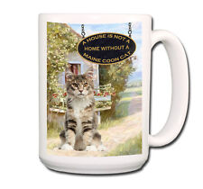 MAINE COON CAT a House is Not a Home EXTRA LARGE 15oz COFFEE MUG No 4