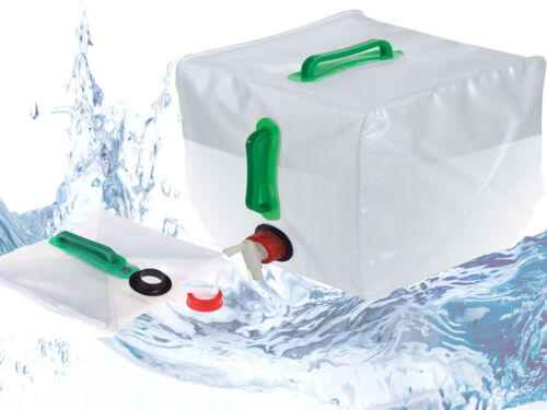 WATER CARRIER CONTAINER W// HANDLE TAP OUTDOOR SHOWER CAMPING FESTIVALS BBQ 20L