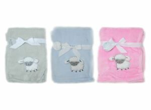 Embroidered-3D-Baby-Blanket-Sheep-Pink-Grey-Blue-Sherpa-Fleece-75x100cm
