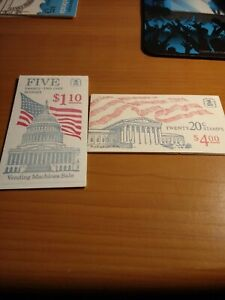 Old US Flag Booklets Of Mint US Postage ($5.10 Total)