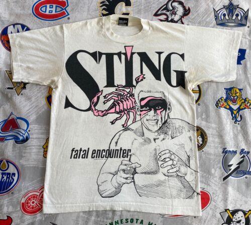Sting WCW 1991 All Over Print T-Shirt Men's Medium