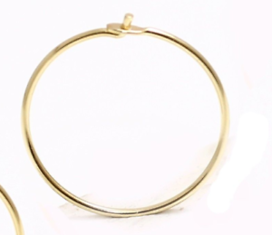 Details About 10 12 15 18 Mm 14k Yellow Gold Thin Wire Hoop Earring Price For One Piece