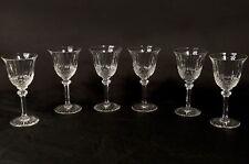 6 verres à pied à vin blanc cristal taillé Saint-Louis modèle Tommy XXème