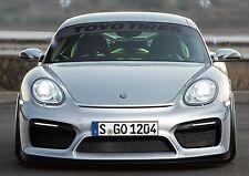 Porsche 987 / Cayman 981 GT4 style Front Bumper fitments for 1st & 2nd gen