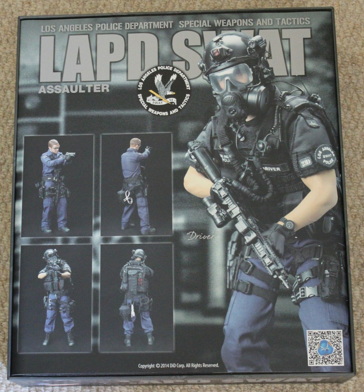 Did action figure 1 6 12'' lapd swat driver boxed toy  dragon cyber hot toys
