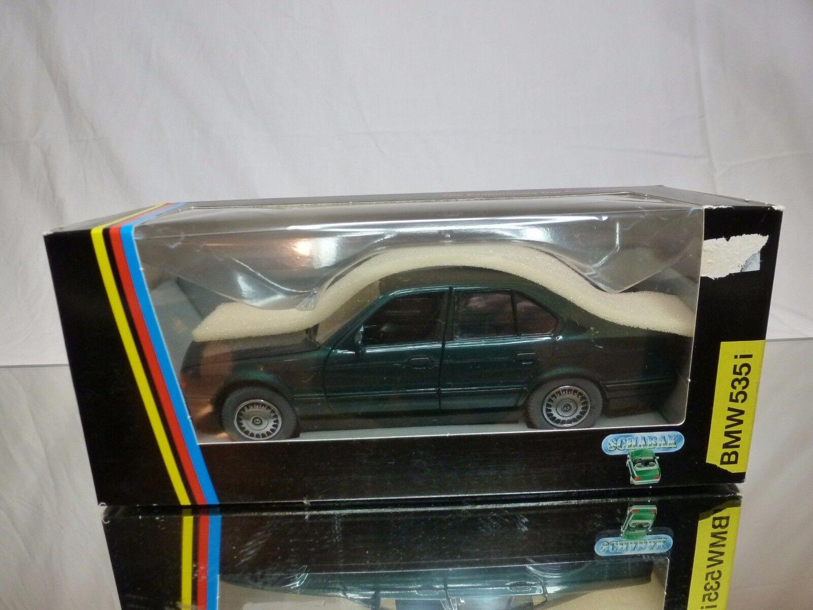SCHABAK 1610 BMW 535i - E34 - METALLIC verde 1 24 - GOOD CONDITION IN BOX