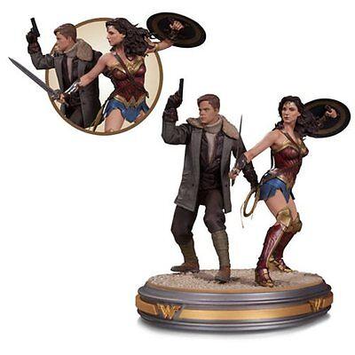 DC Collectibles NEW * Wonder Woman & Steve Trevor * Movie Statue Figurine