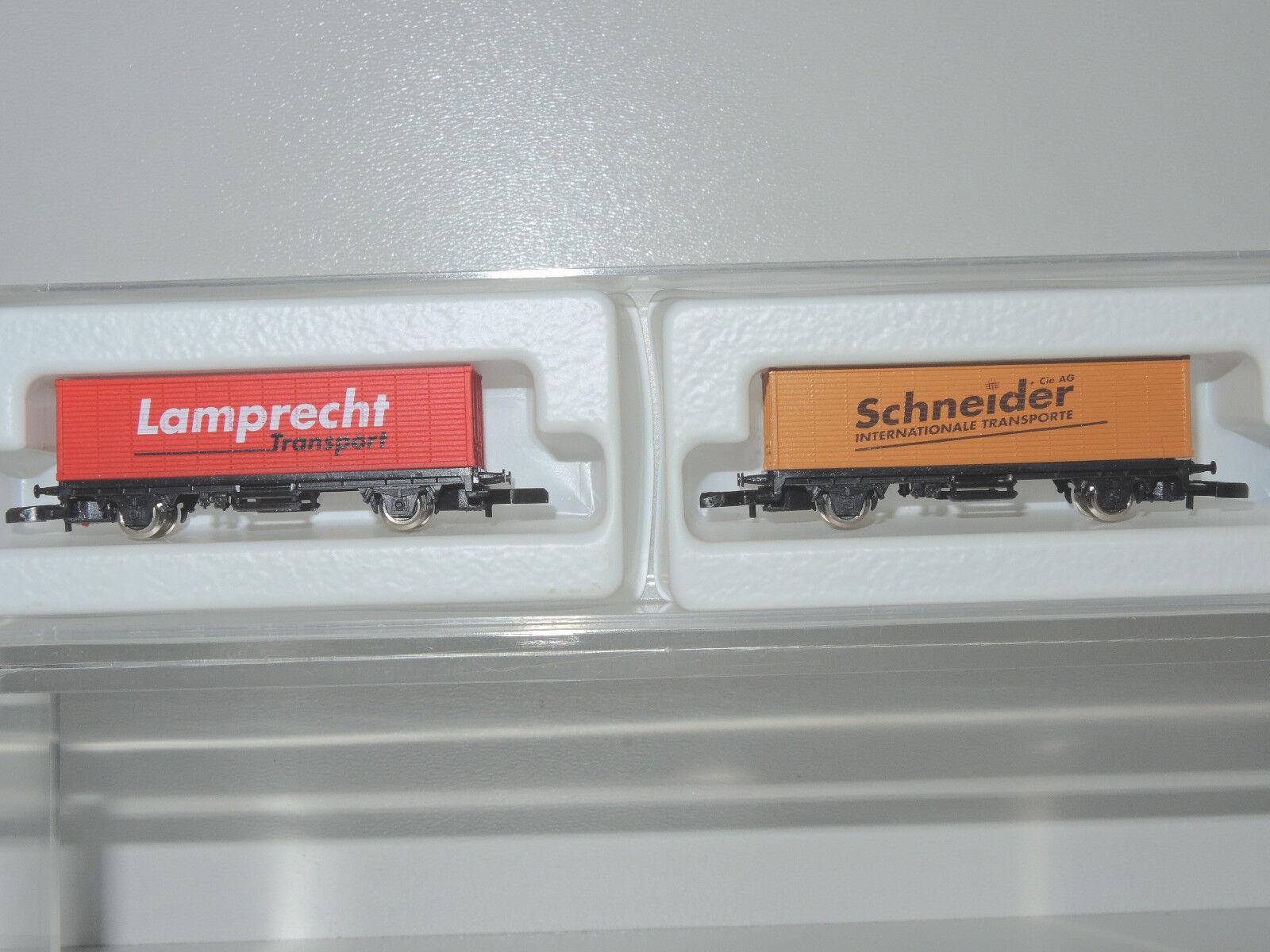 8617.900, traccia ad 2 x Carro merci provenienti da Set Lamprecht/Schneider, Top,
