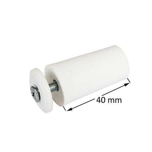Rollladen Anschlagstopper Maxi 40mm weiß Anschlagpuffer Rolladenstopper 10 St
