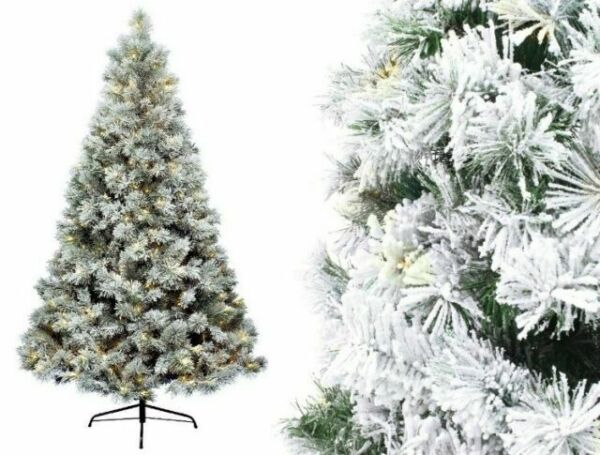 Christmas Tree 180cm snowy Vancouver pine pre-lit 300 ...