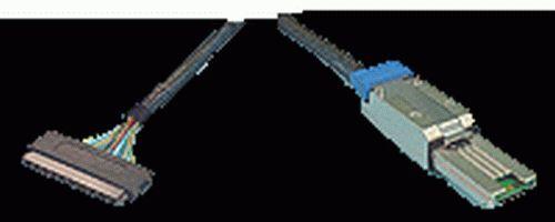 iSAS-8488-U//1M Int SFF-8484 4x Multilane To Ext SFF-8088 mini SAS Cable 1-Meter
