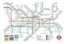 London Underground, The Tube, Subway Map Poster