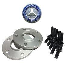 2 12mm Hub Centric Wheel Spacers 5x112 Mercedes 12x1.5 BLACK Lug Bolts 66.56 CB