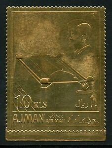 AJMAN-JOHN-KENNEDY-PERF-GOLD-FOIL-STAMP-10-RLS-MINT-NH