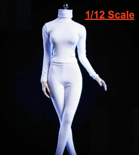 1/12 Turtleneck Stretch Slim Top Pants For 6 PHICEN TBLeague T01 Female Figure