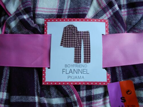 BNWT PRIMARK FLANNEL TARTAN XMAS PYJAMAS BOYFRIEND BUTTON DOWN SIZES 4-20