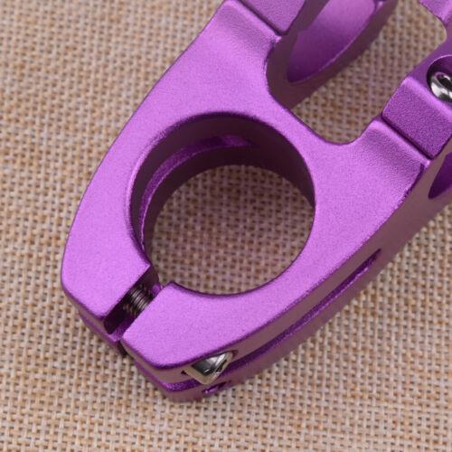 Lila Fahrrad MTB Fahrrad Aluminiumlegierung Lenker Vorbau Rennradklemme 31.8mm