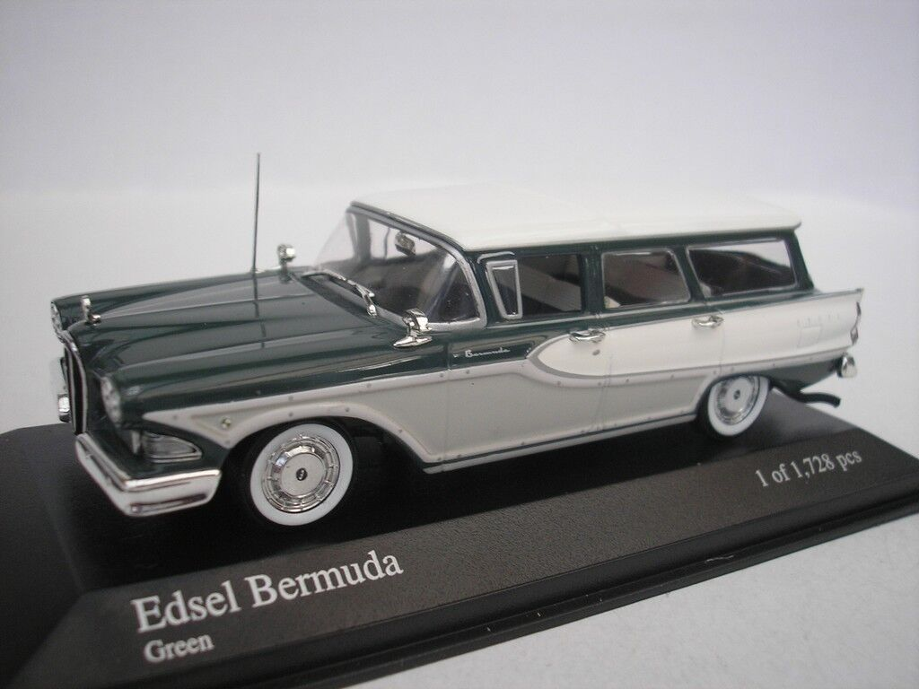 Ford Edsel Bermuda Station Wagon Estate 1958 Green 1 43 Minichamps 400082011 New
