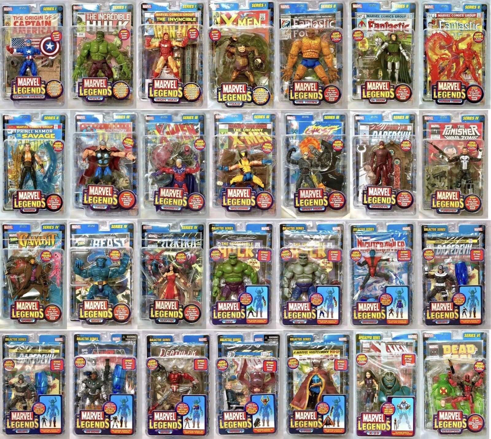 Marvel Legends ToyBiz HUGE LOT Series 1 2 3 4 Galactus NIB Deadpool Iron Man
