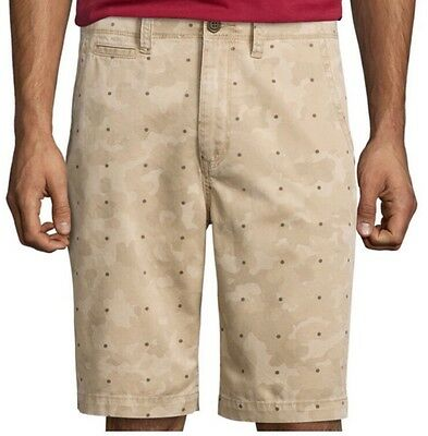 Arizona Jeans Classic Fit Knee-Length Shorts Men/'s Size 32 NWT Tan Camo Dot