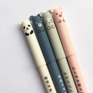 Cute-Cartoon-Cat-Erasable-Blue-Ink-Gel-Pens-School-Office-Writting-Stationery