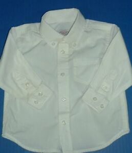 Boys White Dress Shirt Long Sleeve Cotton All Seasons GAP 4Y